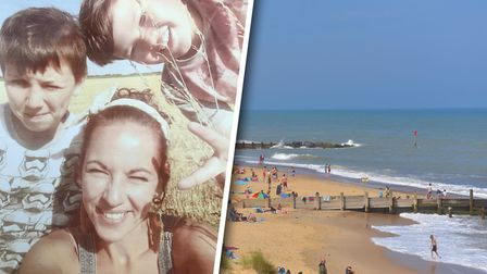 Danielle Chilvers, 37, of Swaffham, who died Sunday after she went into the sea at Waxham to save he