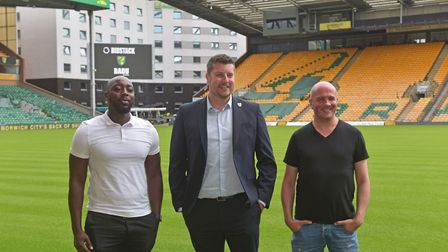 Nana Badu, CEO, Badu Sports, Ben Tunnell - Head of Commercial Development at Norwich City and James