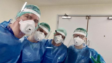The face shields were provided to hospitals and health-care professionals across East Anglia