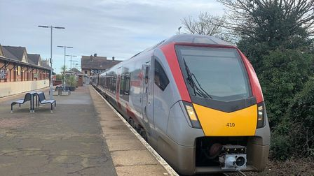 One of Greater Anglia's new bi-mode trains on the Norwich-Sheringham Bittern line.Photo: STUART ANDE