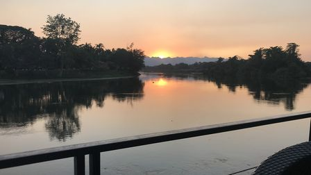 The River Kwai from the famous bridge (C) Charlie and Caroline Barratt
