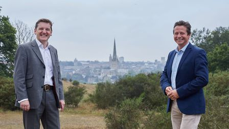Visit East of England Executive Director Pete Waters and Tourism Minister Nigel Huddleston on Mouseh