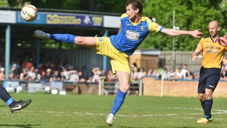 Cameron King in action for King's Lynn Town in 2018 Picture Sonya Duncan