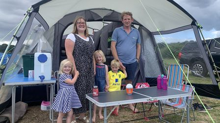 Camping has been booming in Norfolk. Among those enjoying a holiday under canvas at Breck Farm in no