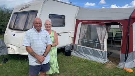 Rob and Carol Sharratt, from Essex, have been camping at Breck Farm, near Bodham, for many years. Pi
