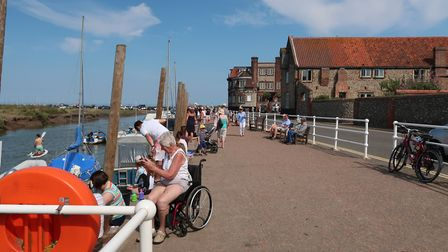 Many campers enjoy being within easy reach of seaside villages such as Blakeney. Picture: Stuart And