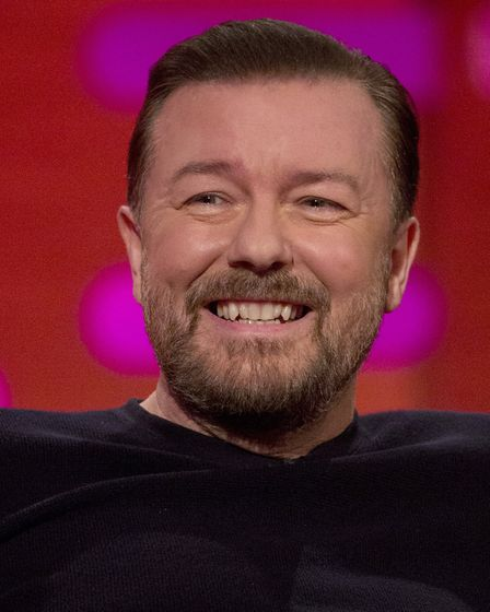 Comedian Ricky Gervais is accused of ripping off Norwich author John Savage in Flanimals. Picture: P