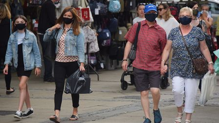 Shoppers are out in force, but shops are saying they're feeling the strain of a lack of office worke