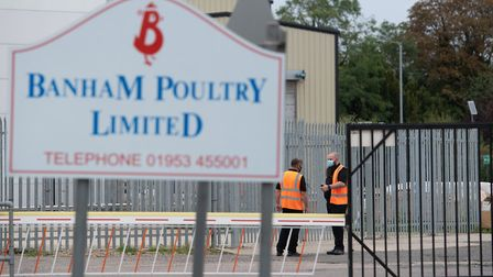 Banham Poultry has partially closed its factory in Attleborough after a coronavirus outbreak. Pictur