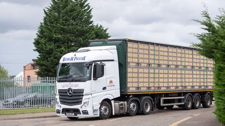 A lorry arrives at Banham Poultry in Attleborough. Picture: Joe Giddens/PA Wire
