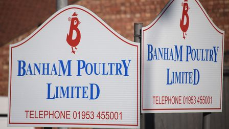 Seven workers at Banham Poultry in Attleborough have tested positive for coronavirus. Picture: Denis