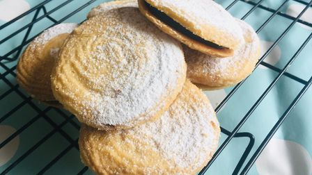 Make our recipe for Viennese whirls sandwiched with salted caramel and dark chocolate ganache Pictu