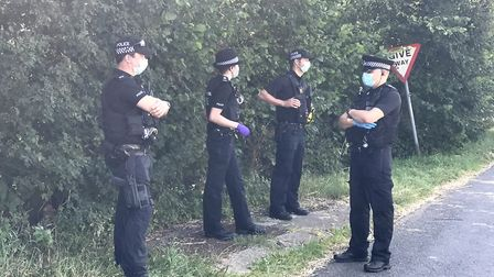Earlier in August, police shut down a rave in woodland off the A1065 in Hilborough, near Swaffham. P