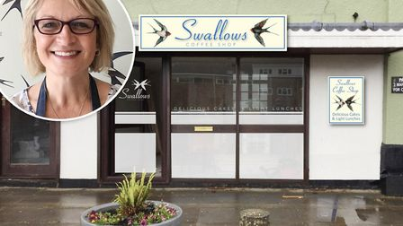 Julie Cameron's Swallows Coffee Shop is moving due to coronavirus rules. Picture: Supplied by Julie