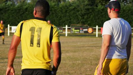 Hingham Athletic FC, pictured here during a pre-season friendly against Bradenham Wanderers, have fo