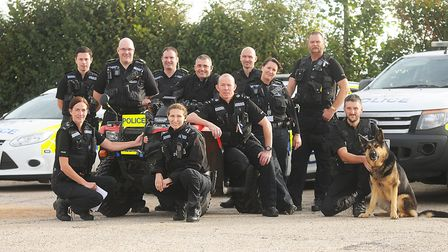 Norfolk Police officers ready to go out on a hare coursing operation. Picture: Ian Burt