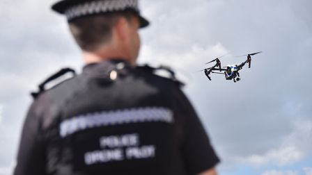 Police use drones to hunt down coursers Picture : Antony Kelly