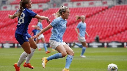 Lauren Hemp, right, in action for Manchester City Picture: PA