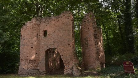 The ancient monument in the grounds of Drayton Old Lodge. Byline: Sonya Duncan (C) Archant 2020