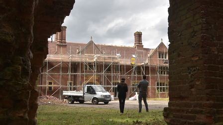 Construction work begins to transform the former Drayton Old Lodge into homes. Byline: Sonya Duncan