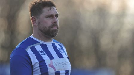 Grant Holt could line up at centre half again for Wroxham against Mildenhall. Picture: Tony Thrussel
