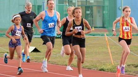 Action from the 1500m race at the Joe Skipper Track Challenge. Picture: Baz Hipwell