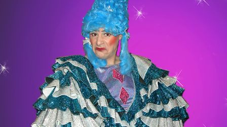 Grizelda, one of the ugly sisters played by Paul Allum, in Dosoc panto Cinderella. Photo: Emma Licen