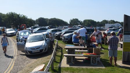 Overstrand beach car park in was busy during August, with many visitors drawn by hot weather. An iss
