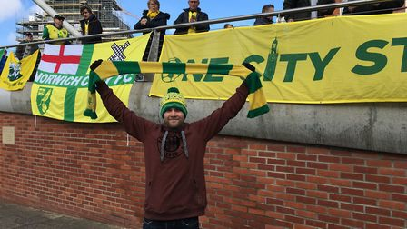 Andrew Lawn, Along Come Norwich fan site co-founder and Norwich City fans' march before the Norwich