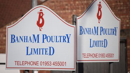 Banham Poultry signs. Picture: DENISE BRADLEY