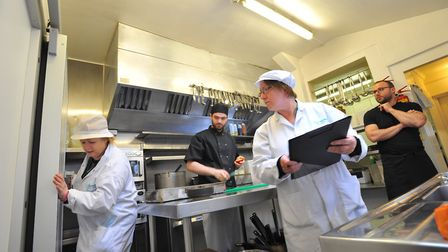 Behind the scenes with Norwich food hygiene inspectors .Picture by SIMON FINLAY