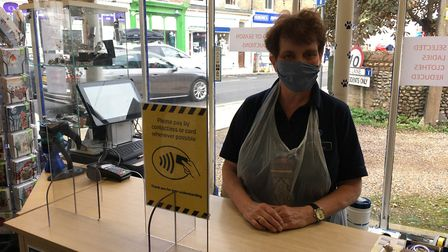 Sue Shilling, manager at the RSPCA charity shop in Attleborough, says the coronavirus outbreak at Ba