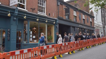 The last day of the Eat Out To Help Out scheme in Norwich sees queues outside some places Byline: So