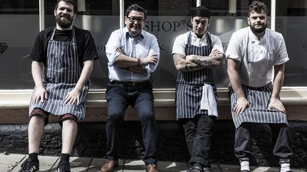 Alessandro Tranquillo, second from left and his team at Bishop's restaurant who are giving in to pop