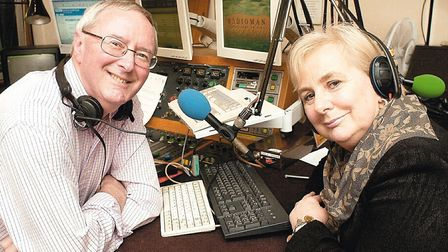 """Roy Waller, from BBC Radio Norfolk with his wife Sylvie who was better known to the listeners as """""""