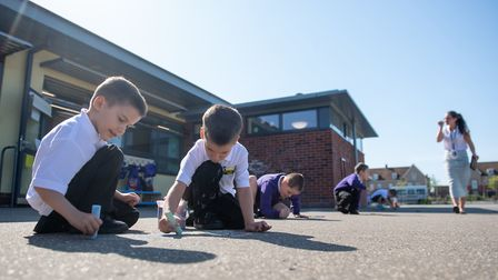 Queen's Hill Primary School in Costessey, will initially have shorter lessons with lots of physical