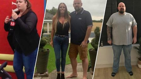 Before and after pictures of Jodie Coleman and Mark Harwood. They say they have a new active lifesty