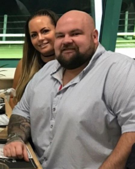 Jodie Coleman and Mark Harwood before they travelled to Lithuania for weight loss surgery. They have