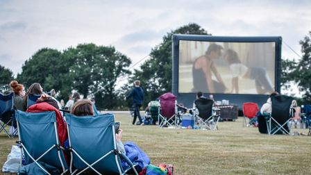 Open Air Screen takes place in the grounds of Langley School and combines outdoor cinema with live m