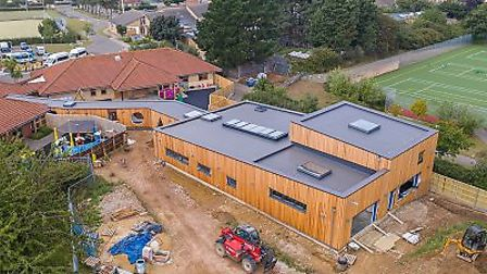 Nearing completion - The Fields Therapy Centre. Picture: Chris Taylor Photography