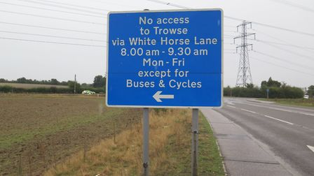A bus gate on White Horse Lane has been included in a traffic diversion causing confusion among moto
