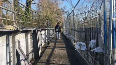 The bridge on the Marriott's Way at Lenwade will be closed for repairs. PIC: Peter Walsh.