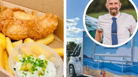 Peter Thorogate, from Sheringham, has launched Chish and Fiddy fish and chip van. Picture: Supplied