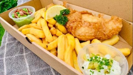 Peter Thorograte has launched a fish and chip van called Chish and Fiddy. Picture: Supplied by Peter