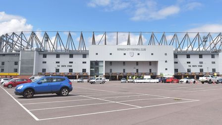 A temporary coronavirus testing centre has been set up at Carrow Road. Pictures: BRITTANY WOODMAN