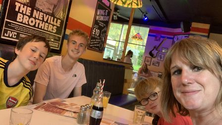Katie Potts, from Hosford, with her children Sam, 16, Joe, 13, and Zac, 9. Picture: Katie Potts