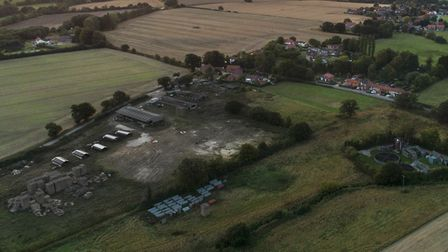 An aerial photo of the existing pig farm site at Aldborough in north Norfolk. Picture: Aldborough Vi