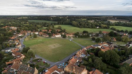 An aerial photo of the village of Aldborough in north Norfolk. Picture: Aldborough Village/Kingfishe