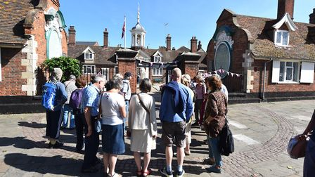 A previous heritage walk through Great Yarmouth outside The Fishermen's Hospital Picture: James Bass