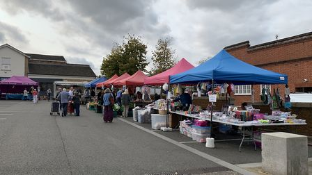 Market on the Town Hall Car Park in Downham Market. Picture: Sarah Hussain